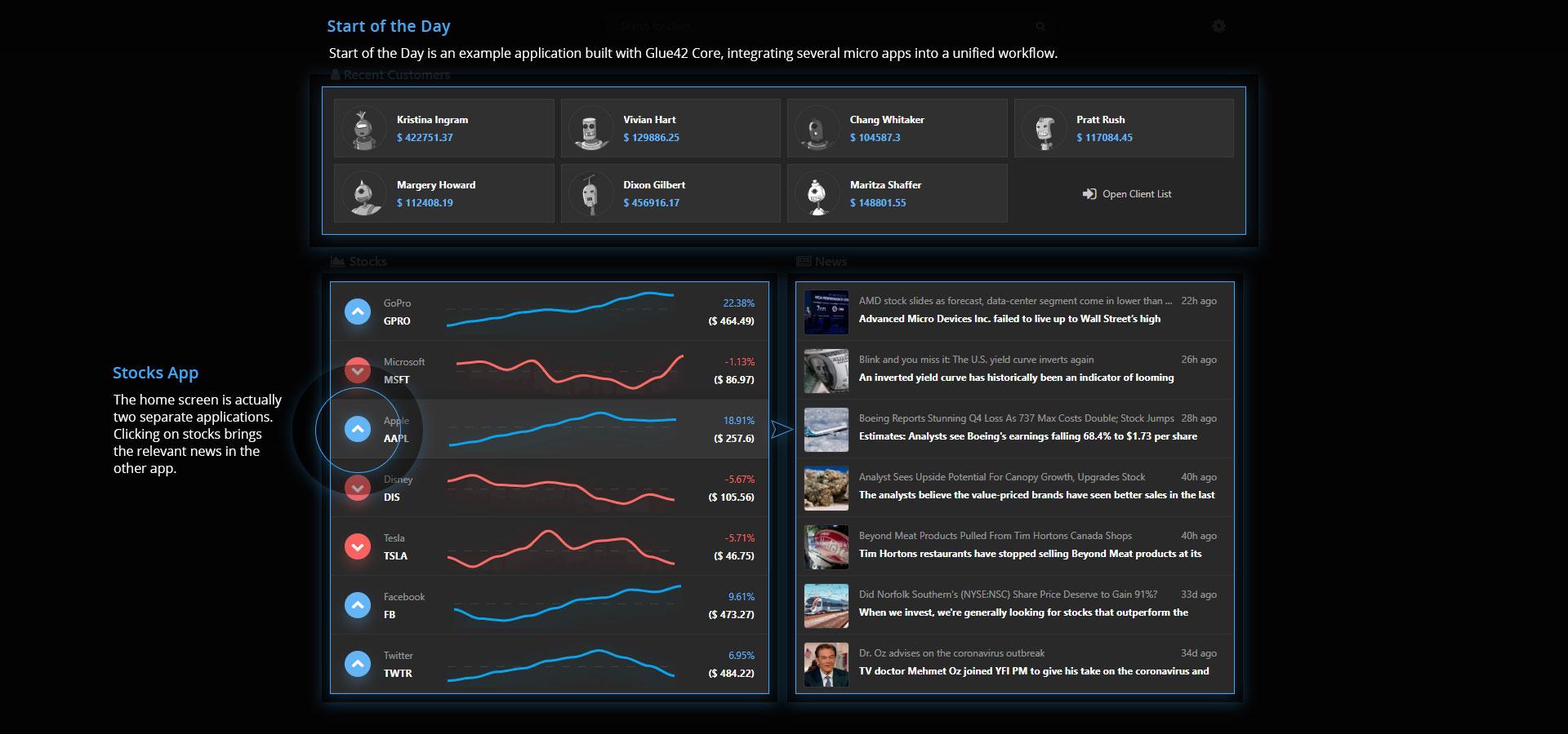 Glue42 Core Screen 2