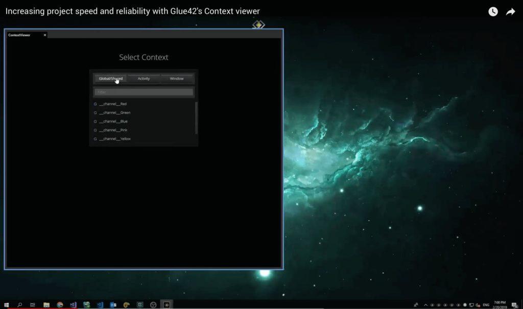 Glue42's Context Viewer
