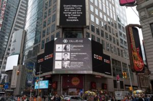 Glue42 Partners announcement at Times Square