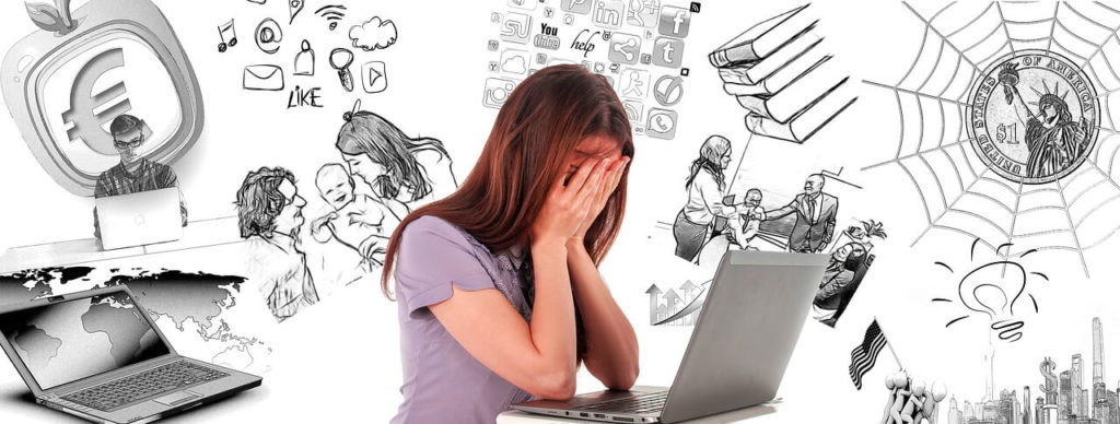 A Woman Looking Desperate In Front of Her Laptop