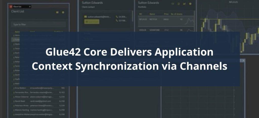 Glue42 Core Channels Header