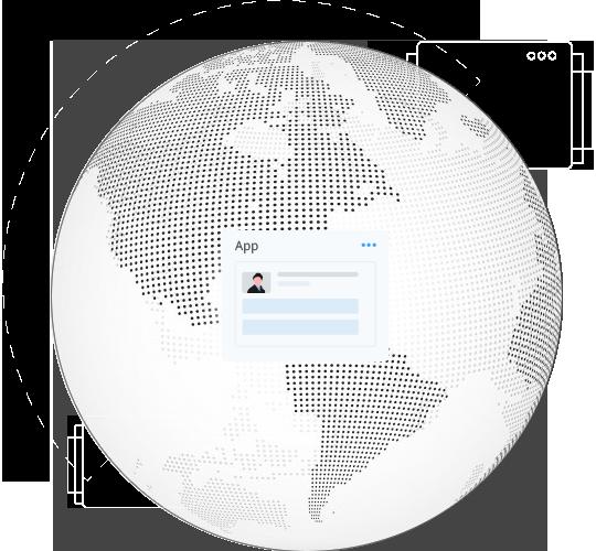 Glue42 Core App Enterprise Globe