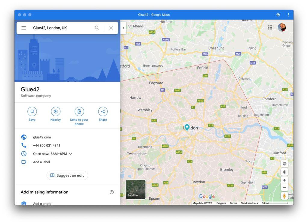 Google Maps as PWA