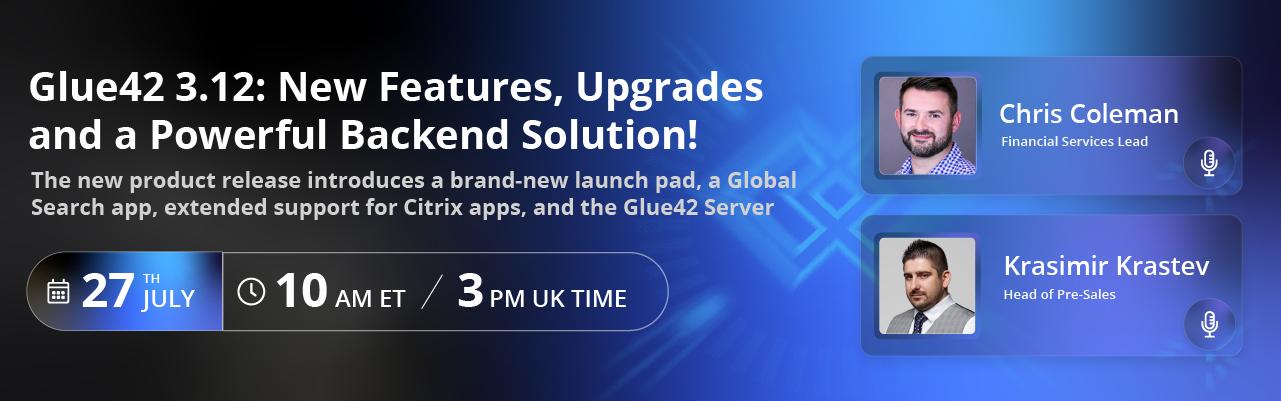 Glue42 new release webinar